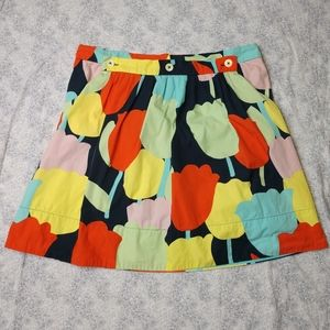 Anthro Fei tulip skirt w hoodie pocket size 12